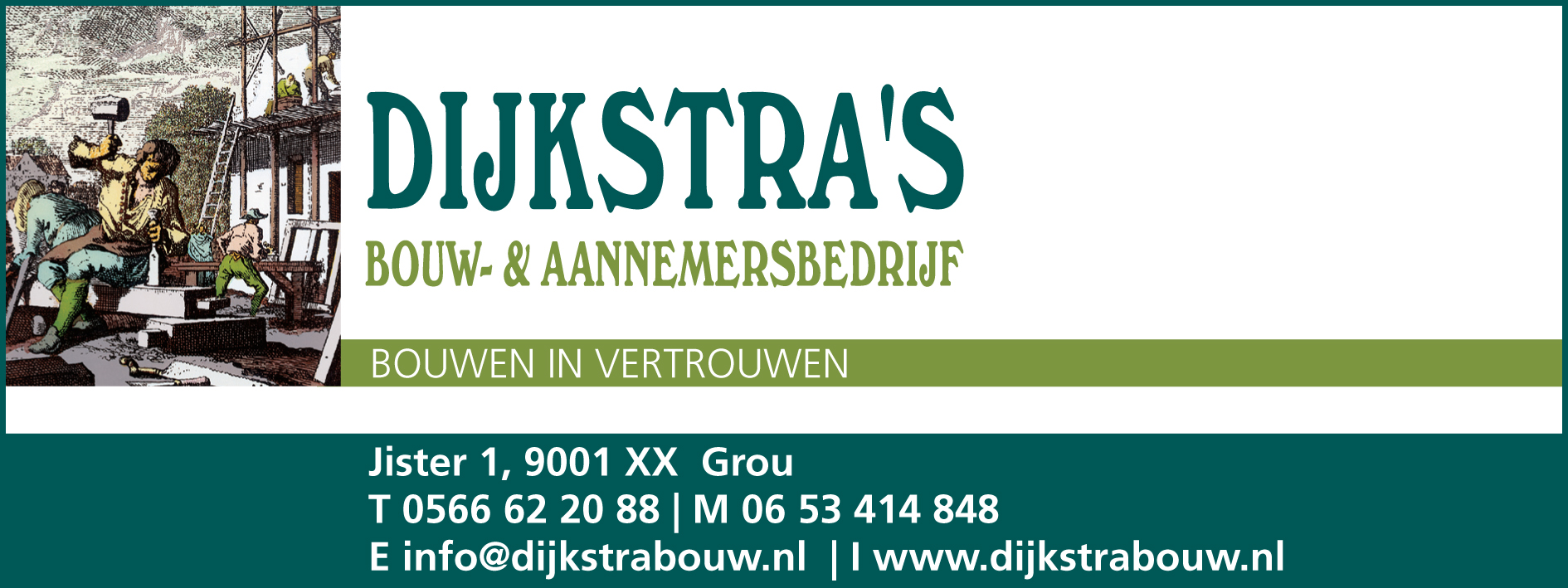 Logo van Dijkstra's bouw- en aannemersbedrijf b.v.